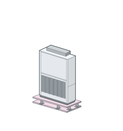Floor-mounted fan coil unit